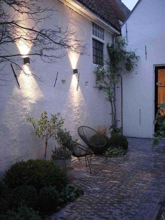 Coole effecten met tuinverlichting - muur pinterest