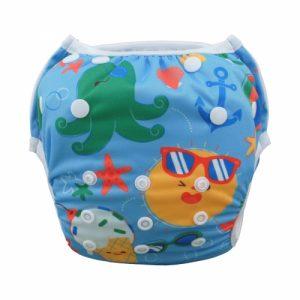 wasbare zwemluier blauw zon water dier