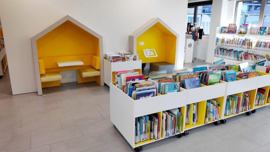 kinderboeken afdeling bibliotheek Stadhuis-Forum Zoetermeer