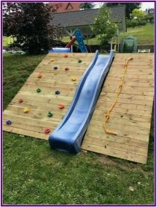 grote speeltuin in eigen tuin maken