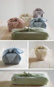 herbruikbaar cadeaupapier - inpakken met stof - Furoshiki