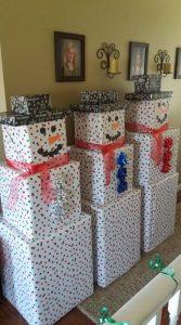 herbruikbaar cadeaupapier - verzenddoos versieren