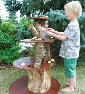 een mini speeltuintje in eigen tuin maken