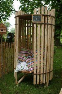 chill huisje ruimtebesparend speeltuintje in eigen tuin maken