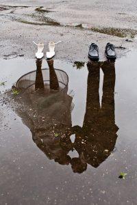 Foto cadeau ideetjes met humor; spelen met weerspiegeling