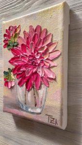 schilderen dahlia