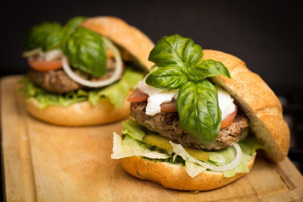 gezond eten via Thuisbezorgd hamburgers