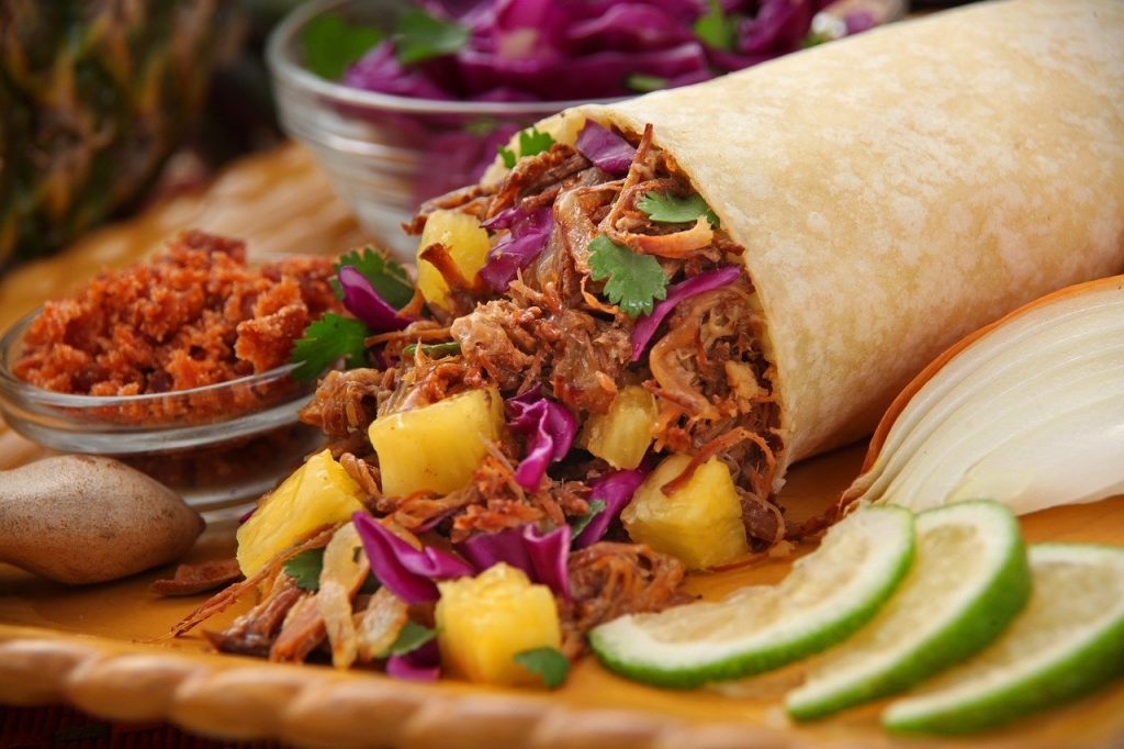gezond eten via Thuisbezorgd wrap